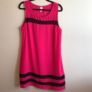 Point Hot Pink and Lace Dress